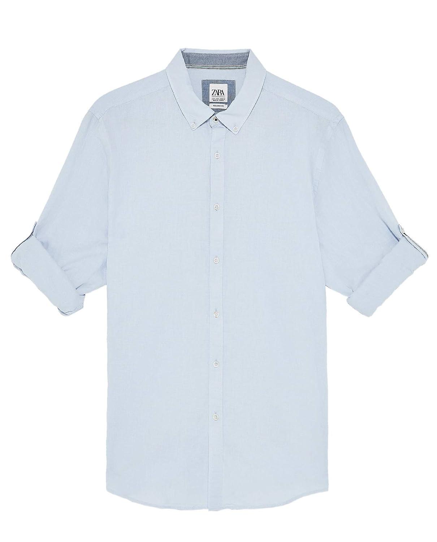 Zara 7545/402/403 - Camisa para Hombre Azul Azul XXL: Amazon.es ...