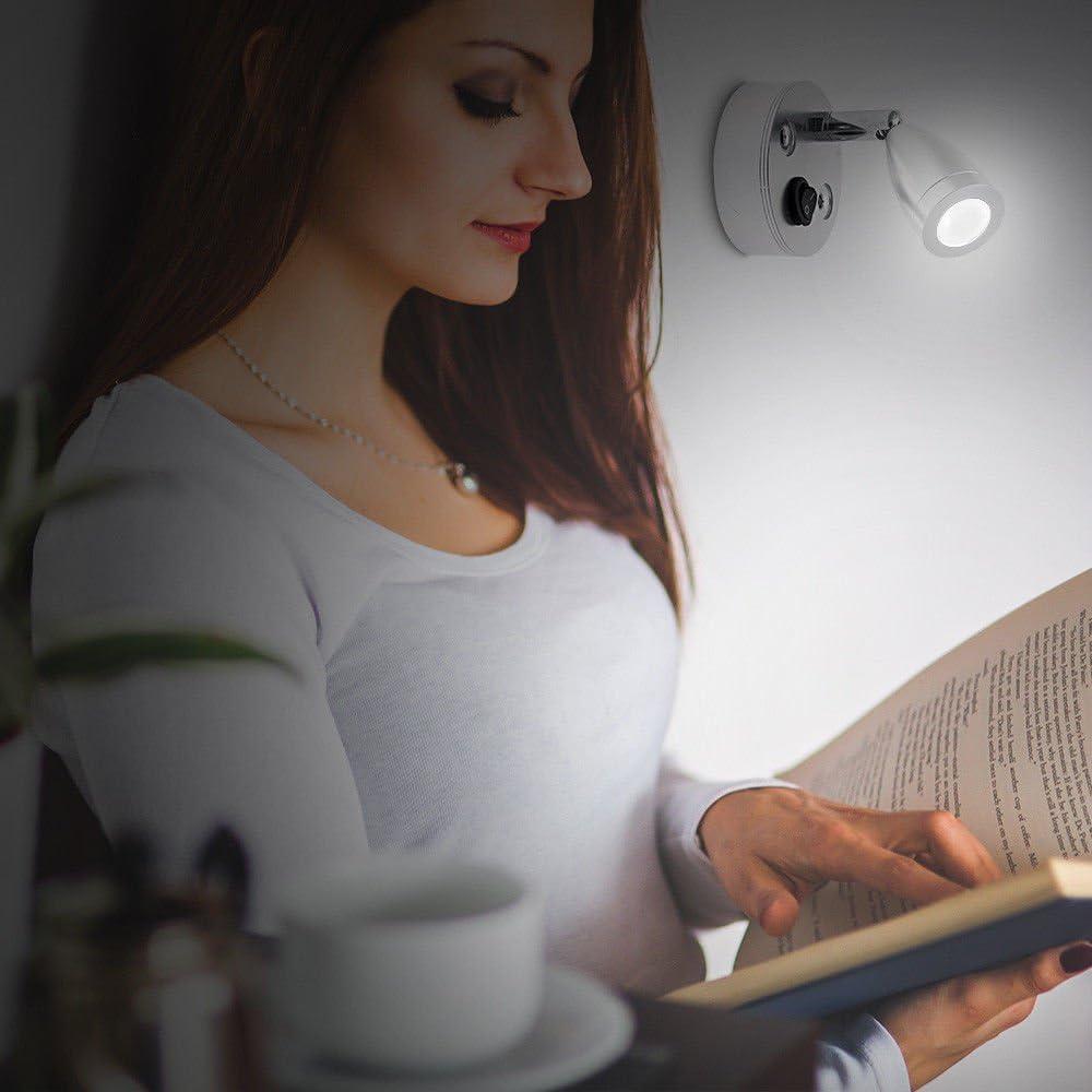 MASO Van Interior Lights 12V LED Spot Reading Light Switch Camper Van Caravan Boat Interior Light Warm Light 1-packing