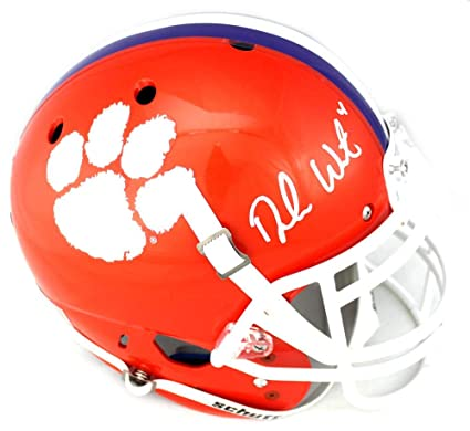 bd8b103049e Image Unavailable. Image not available for. Color: Deshaun Watson Signed Clemson  Tigers Schutt Authentic NCAA ...