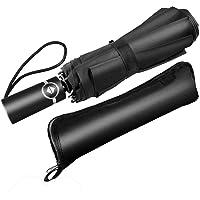 Newdora Regenschirm Taschenshirm Stockschirm sturmfest Auf-Zu Automatik wasserabweisend klein leicht kompakt