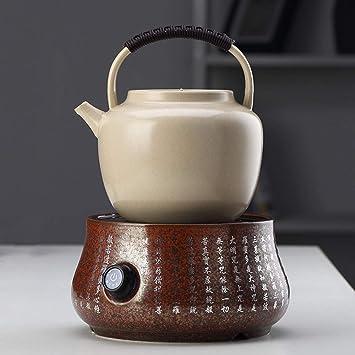 Estufa eléctrica de cerámica Olla de la Salud Olla de Arcilla Blanca Gran Capacidad Té para Preparar té Kung Fu Cerámica Hervidor de cerámica Estufa ...