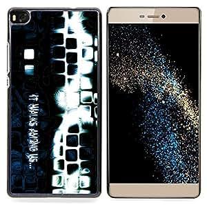 "Qstar Arte & diseño plástico duro Fundas Cover Cubre Hard Case Cover para Huawei Ascend P8 (Not for P8 Lite) (Entre nosotros"")"
