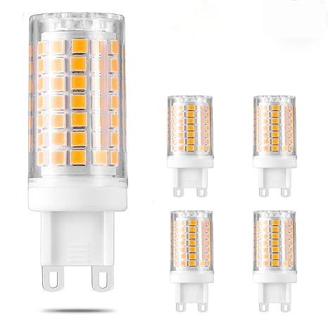 Bombilla LED G9 regulable de 5 W, bombilla halógena de 50 W de repuesto de