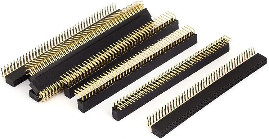 X Dree 10 Stücke 2 54mm Pitch 90 Grad Winkel Weibliche Zweireihig 40 Pins Steckverbinder Pcb Header 92245243f829d66a0a6f70d389c4f74f Baumarkt