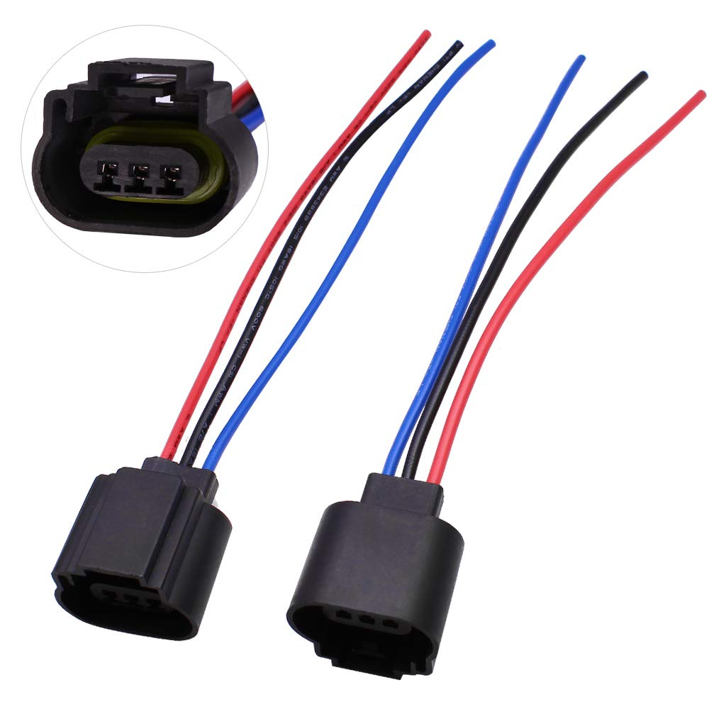 HUIQIAODS H13 9008 H13LL Extension Wire Socket Adapter Wiring Harness on