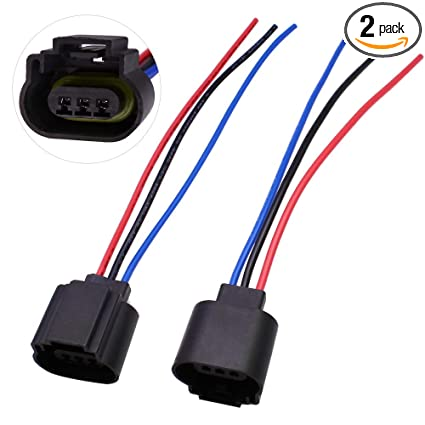 Amazon.com: HUIQIAODS H13 9008 H13LL Extension Wire Socket Adapter on h13 hid wiring, h13 plug harness, hid kit headlight harness,