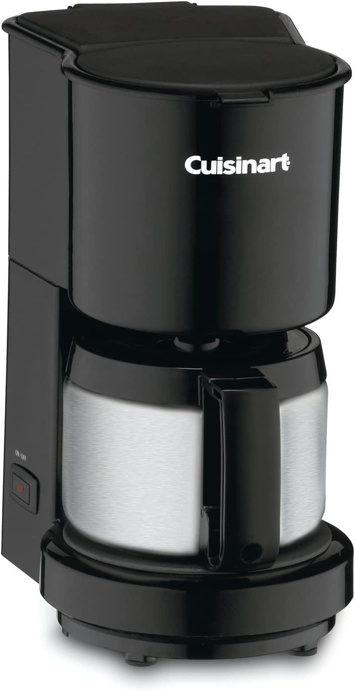 Amazon Com Cuisinart Dcc 450bk 4 Cup Coffeemaker With Stainless Steel Carafe Black Drip Coffeemakers Kitchen Dining