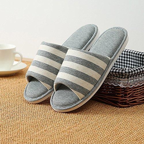 d'hiver Pantoufles Tongs Plat Chaussons Chaud et Gris3 Anti Derapant Chaussures Hommes Chaussures Femmes gxIpwn0O