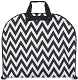 Ever Moda Hanging Garment Bag, Black White Chevron (40-inch)
