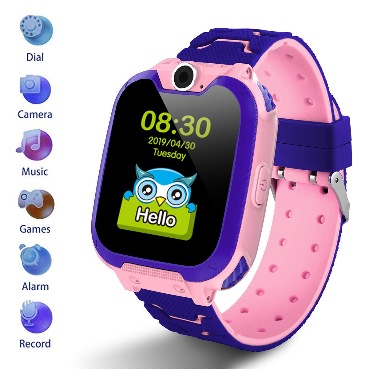 Kids Smartwatch [SD Card Included],1.54 inch Colorful Touch Screen Smartwatch for Children with Quick Dial, Camera and Music Player,Calculator and ...