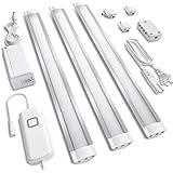 MYPLUS Under Cabinet LED Lighting, Dimmable Warm White Strip Lights 3000K, 10W, 630 Lumen Bright 3 Packs 12 inch Plug in LED