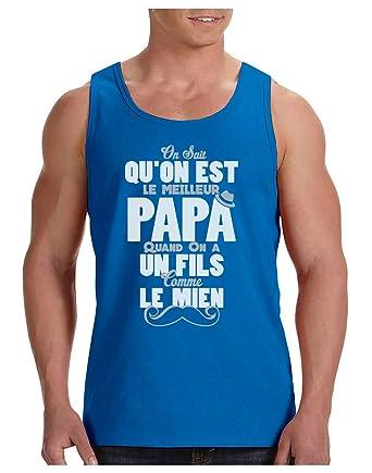 Papa g/éniale Parce Que Super Fils T-Shirt Homme P/ère Fils