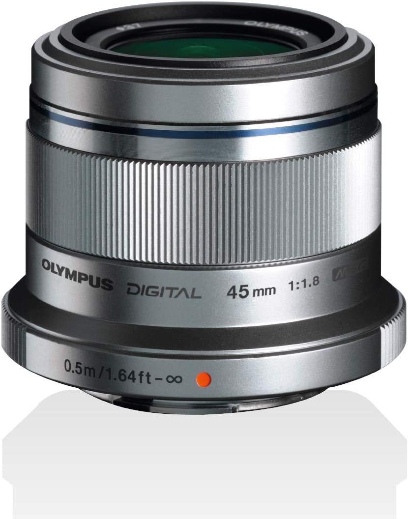 Olympus M Zuiko Digital 45mm 1 1 8 Lens Silver Camera Photo