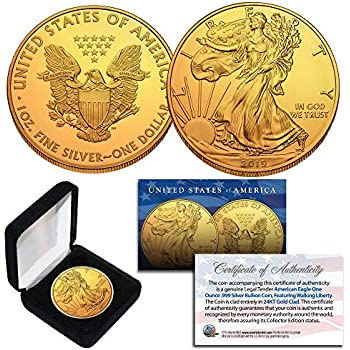 LOT of 10 Mint BU Coins 24K GOLD PLATED 2001 New York State Quarters U.S