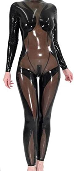 100% Latex Ganzkörperanzug Ganzanzug Anzug Kostüm Gummi