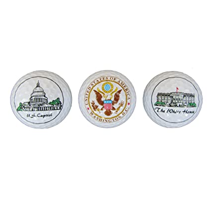 d41a9287bc59cb Amazon.com   President Souvenirs DC Golf Balls - White House ...