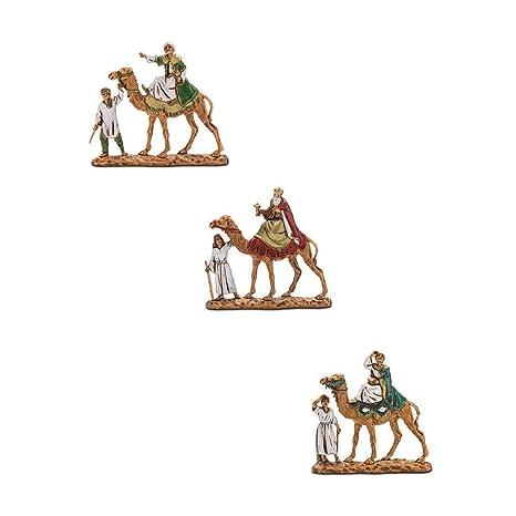 a904f1242cd Estatuillas de resina con forma de Reyes Magos en camello para pesebres