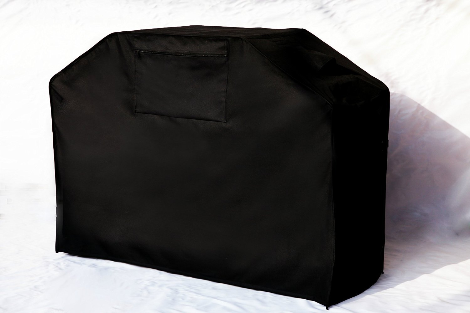 Garden Home Barbeque Grill Cover, Padded Handles, Helpful Air Vents, 58'' L, Black