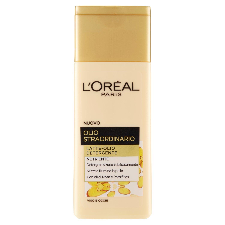 L'Oréal Paris Olio Straordinario Latte-Olio Detergente, 200 ml - [pacco da 6]