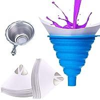 ManLee 100 Stks Wegwerp Verf Papier Strainers 100 Micron Verf Filter Conische Vouwtrechter Nylon Gaas Trechter met…