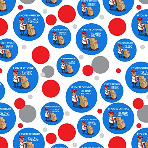 Trump Offended Help You Pack Republican Funny Premium Gift Wrap Wrapping Paper Roll