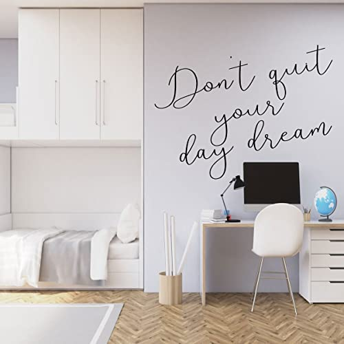 Amazon Com Never Stop Dreaming Wall Decal Vinyl Home Decor Quote Lettering Don T Quit Your Day Dream Handmade