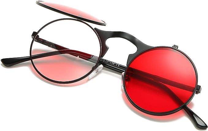 Retro Sonnenbrille Vintage Rund Wie Steampunk Brillen Polarisiert Unisex