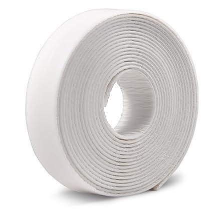 نتيجة بحث الصور عن Caulk Strip LIKEGOR Flexible Self Adhesive Sealing Tape Waterproof for Kitchen Bathroom Tub Shower Floor Wall Seam