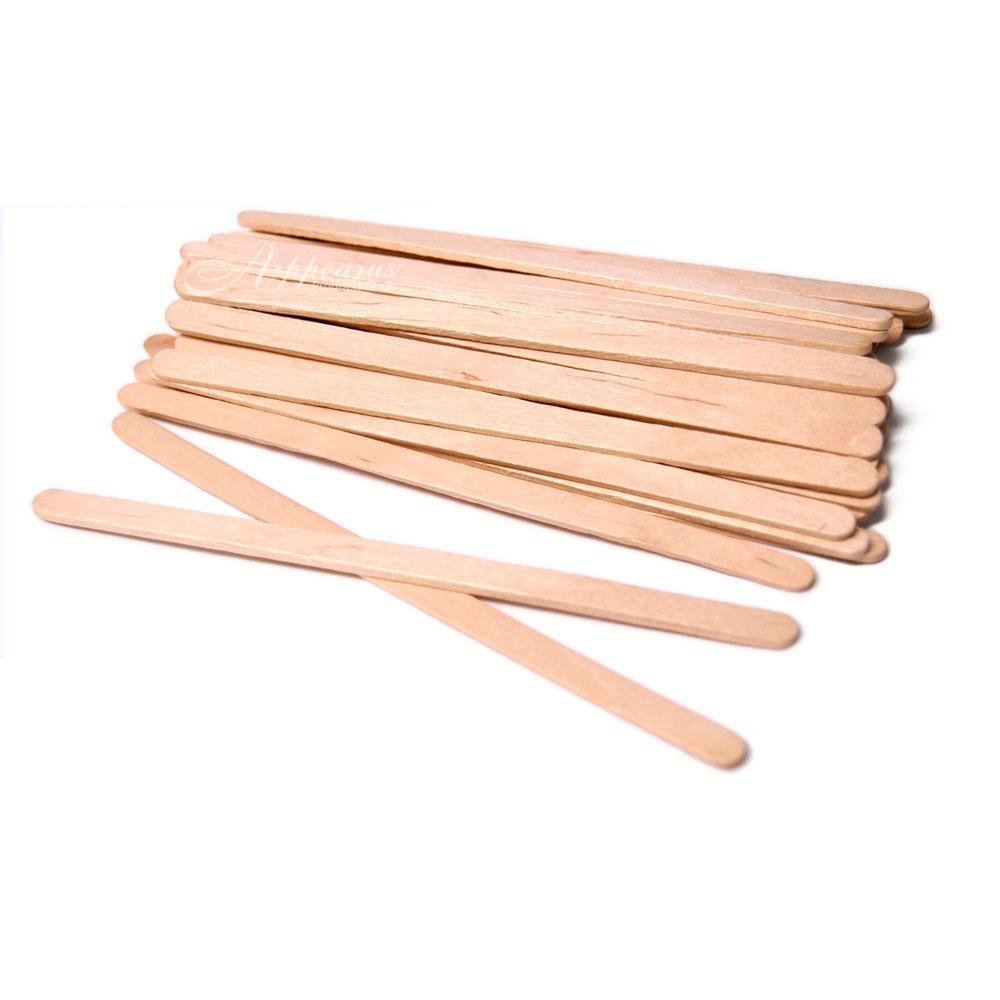 """Sturdy Waxing Applicator Sticks 5-1/2"""" x 1/4"""" (100 ct.) Appearus"""