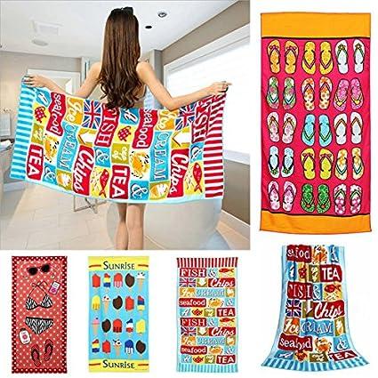 Bargain World 70xDibujo animado vistoso de 150 cm que imprime toalla de baño de