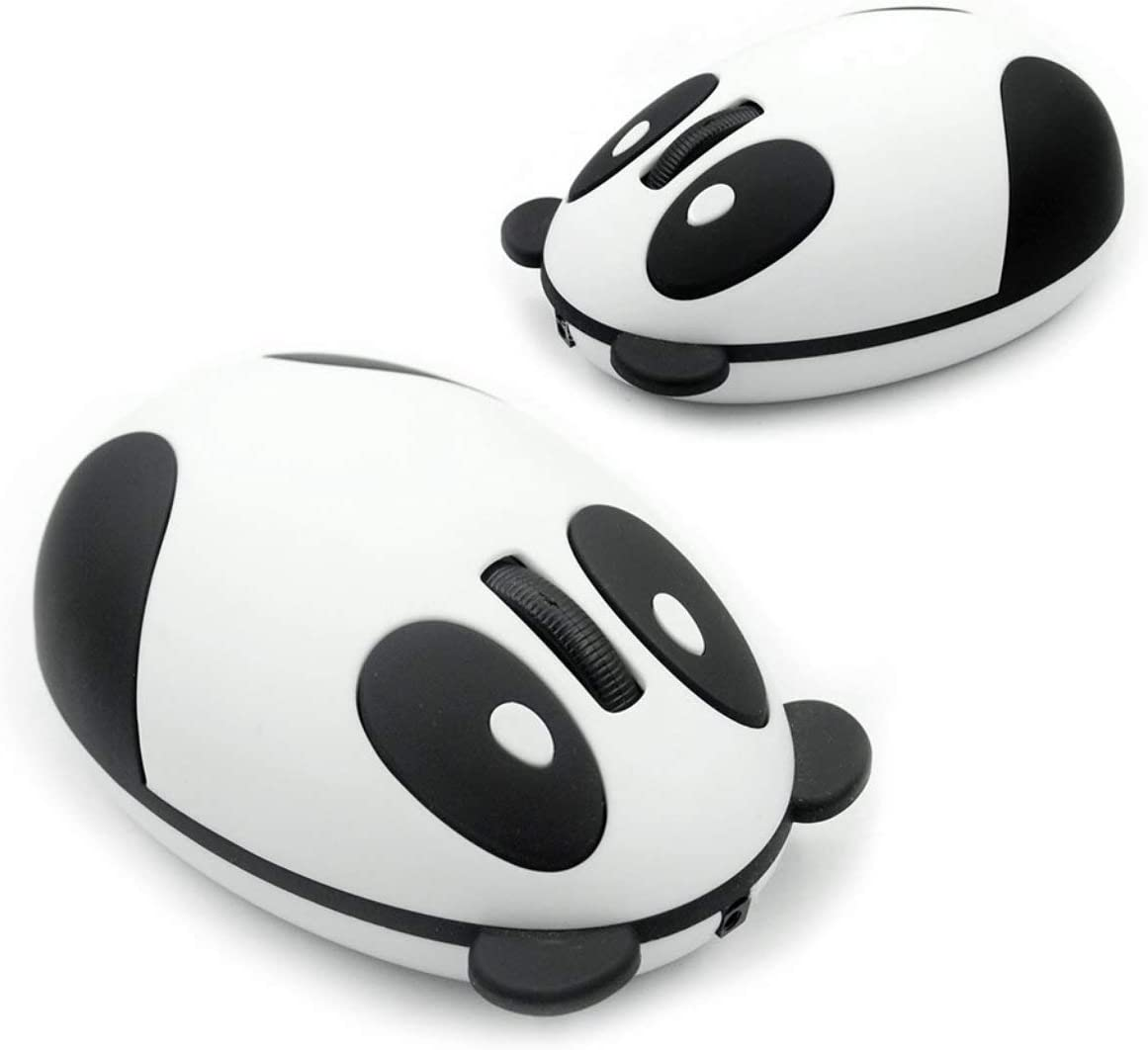 Liobaba Ergonomic 2.4GHz Wireless Rechargeable Optical Panda Shape Computer Mouse Gaming Professional Gamer Mouse