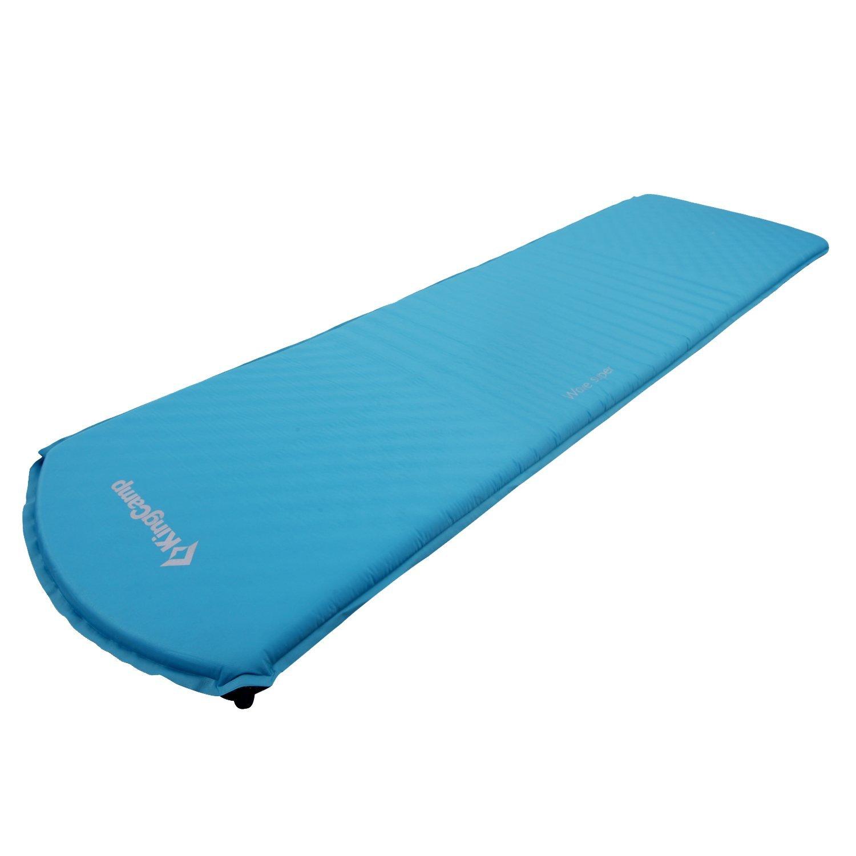 Kingcamp - Colchoneta autoinflable 183 * 51 * 3 cm - verso con revestimiento antideslizante - Colchón inflable - color azul: Amazon.es: Deportes y aire ...