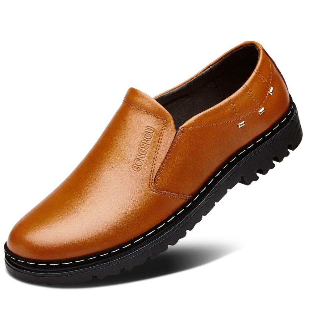 SPLNWTFHCNWPCB Herbst atmungsaktiv Herren Schuhe Business Casual Lederschuhe Männlichen Perücke Füße Schuhe England Mann Schuhe Plus Größe Schuhe