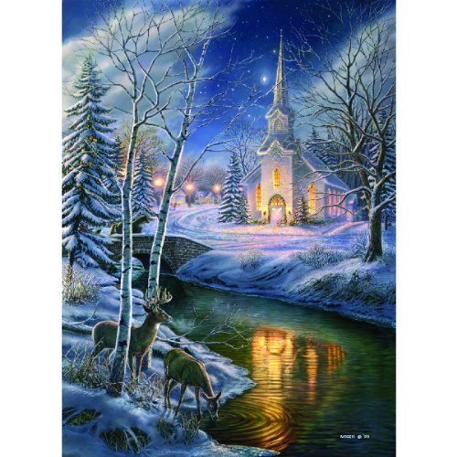 O Holy Night   Christmas Church Winter Puzzle   1500 Pc Jigsaw Puzzle