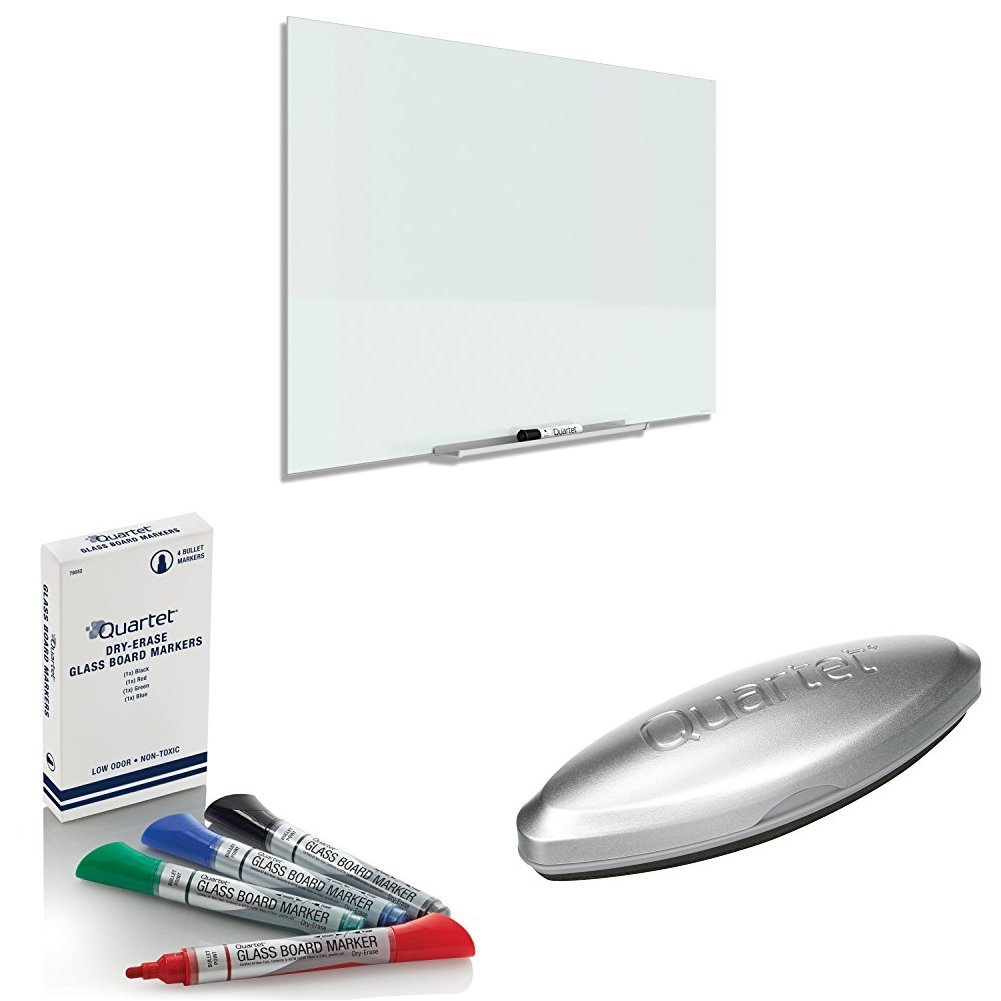 good Quartet Glass Dry Erase Board, Markers and Eraser - karibu com tr