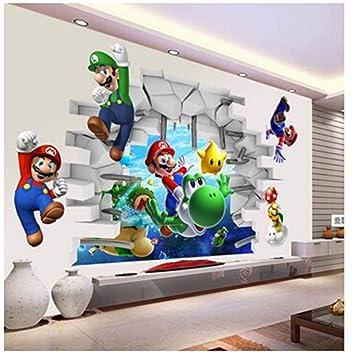 Amazon.com: Sichbjyd Super Mario Bros Kids Removable Wall ...