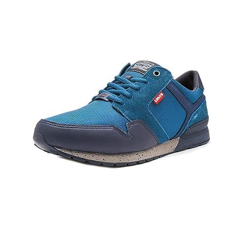 595c95ec4dd Levi's NY Runner II Trainers in Blue Jean 227823-837-10: Amazon.co ...