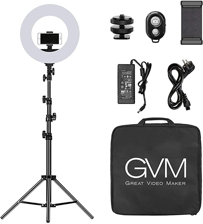 Gvm Photo Studio Led Ring Light With Light Stand Kit 18 Camera Photo