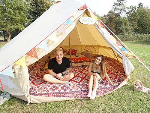 Dream House Diameter 4m Outdoor Luxury Cotton Canvas Family C&ing Bell Tents with Stove Hole  sc 1 st  C&ing Companion & Dream House Diameter 4m Outdoor Luxury Cotton Canvas Family ...
