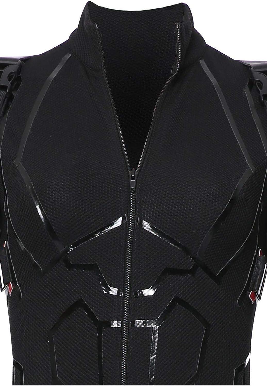 xiemushop Costume De Film pour Femme Adulte Heroine Cosplay Costume Noir Complet Costume De Cosplay Jumpsuit Elastique Maigre