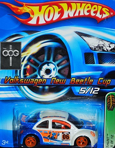 2006 Hot Wheels Treasure Hunt Volkswagen New Beetle Cup #043 - T-Hunt 5/12