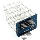 SODIAL ブルー 4X4X4新しい3DライトキューブキットUNOシールドLED DIYプロジェクト Arduinoの為
