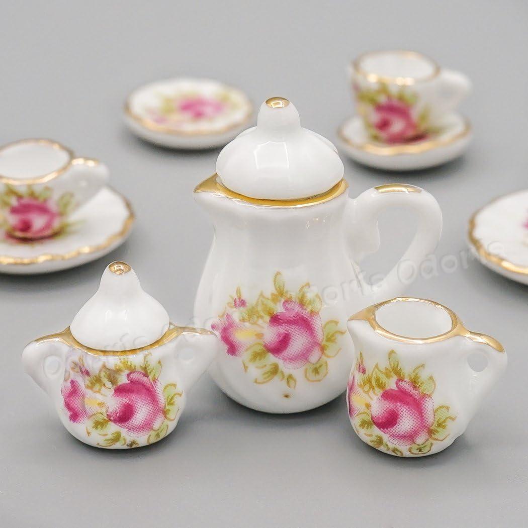 1:12 Mini lovely Tea pot model set Dollhouse Miniatures Accessories DIY*sh