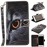 Misteem Case for iPhone 6 Plus/ 6S Plus Animal, Cartoon Anime Comic Leather Case Wallet with Bookstyle Magnetic Closure Card Slot Holder Flip Cover Shockproof Slim Creative Pattern Shell Protective Cover for Apple iPhone 6S Plus/ 6 Plus 5.5 inch [Cat's head]