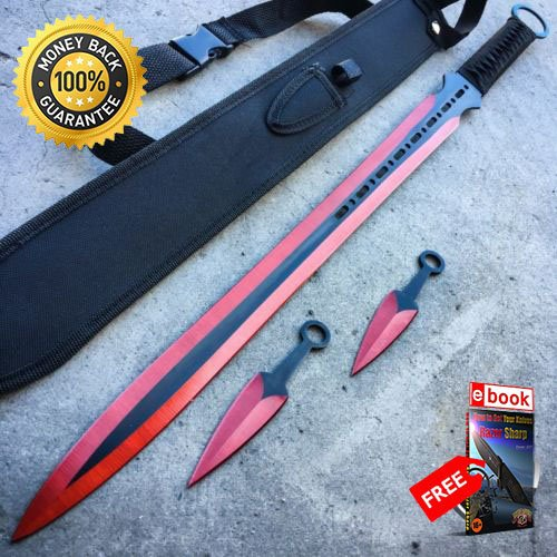 28 NINJA SWORD Full Tang Machete Tactical Blade Katana ...