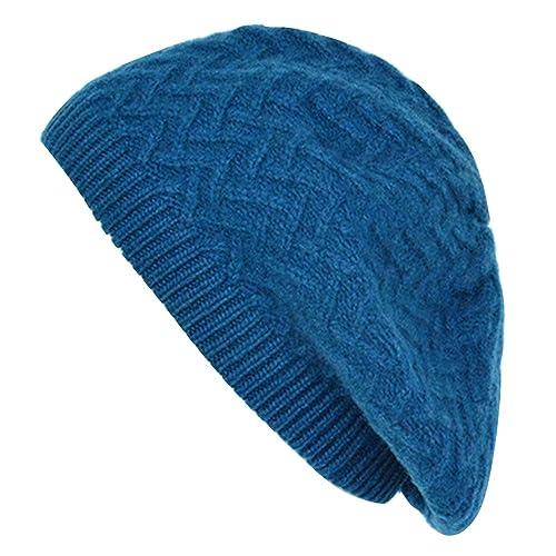 Alisa.Sonya –  Berretto in maglia  – Donna Blu Peacock Blue