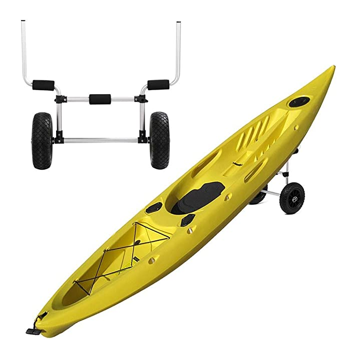 go2buy barco canoa Kayak Carrier Bolsa Carrito para kayak carro w/ruedas, plata, 27.6 x 25,2 x 10