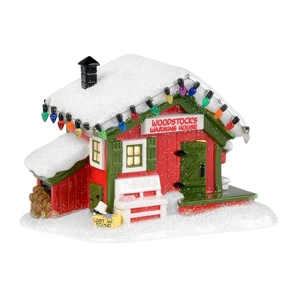 Department 56 Peanuts Village Woodstock's Warming House Lit Building, 4.75 inch