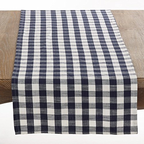 Gingham Table Runner (Fennco Styles Gingham Plaid Cotton Table Runner - 16