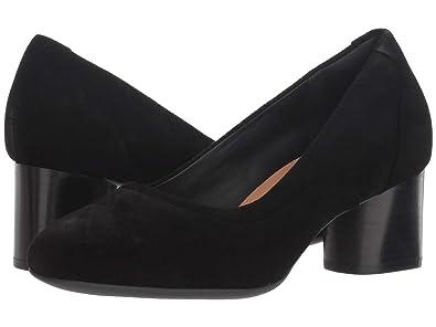621de43027ff9 CLARKS Un Cosmo Step Womens Pumps Black Suede 9 W